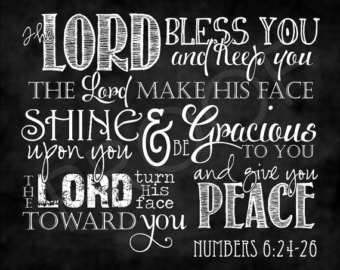 The Priestly Blessing of Number 6:24-26